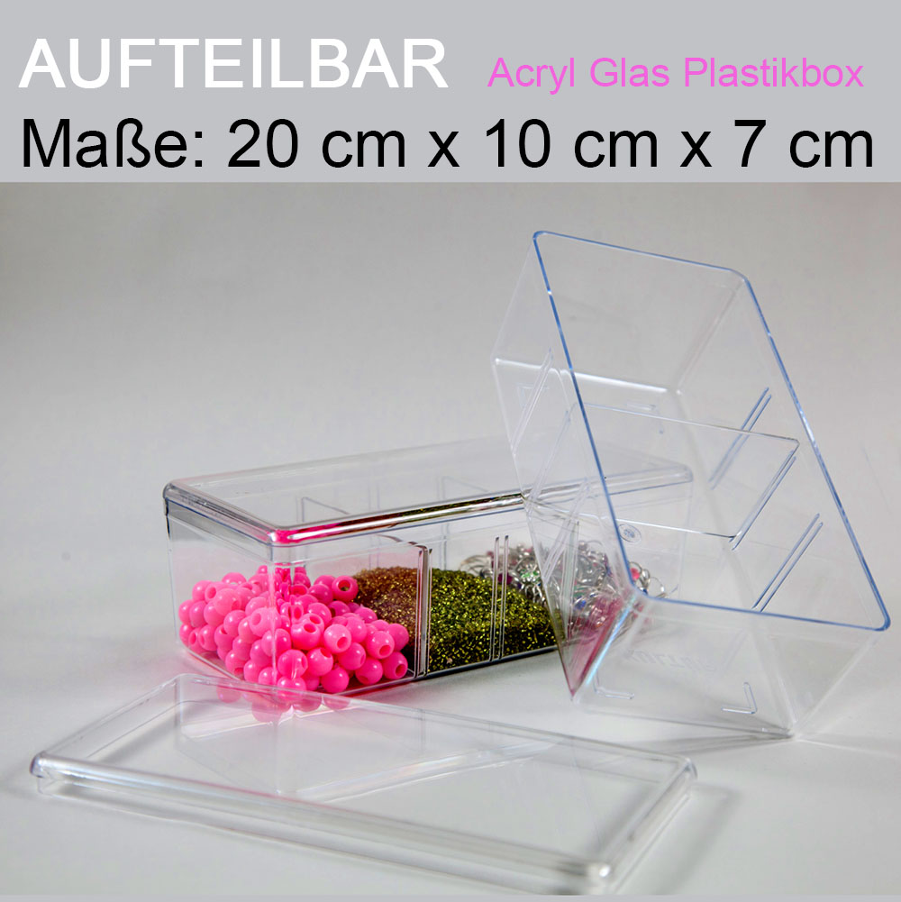 acryl plexiglas aufbewahrungs box deckel transparent schmuck kasten plastikbox ebay. Black Bedroom Furniture Sets. Home Design Ideas